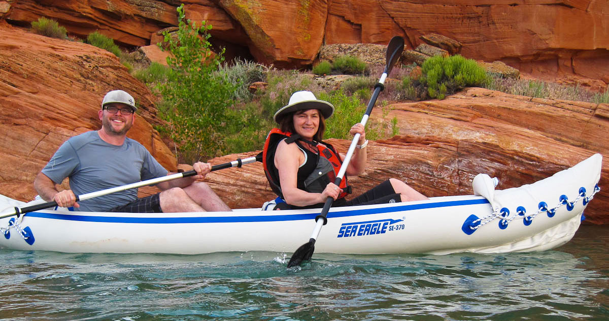 Paddling on Sand Hollow Reservoir