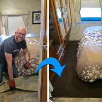 How We Replaced the Carpet in Our RV for Less Than $60