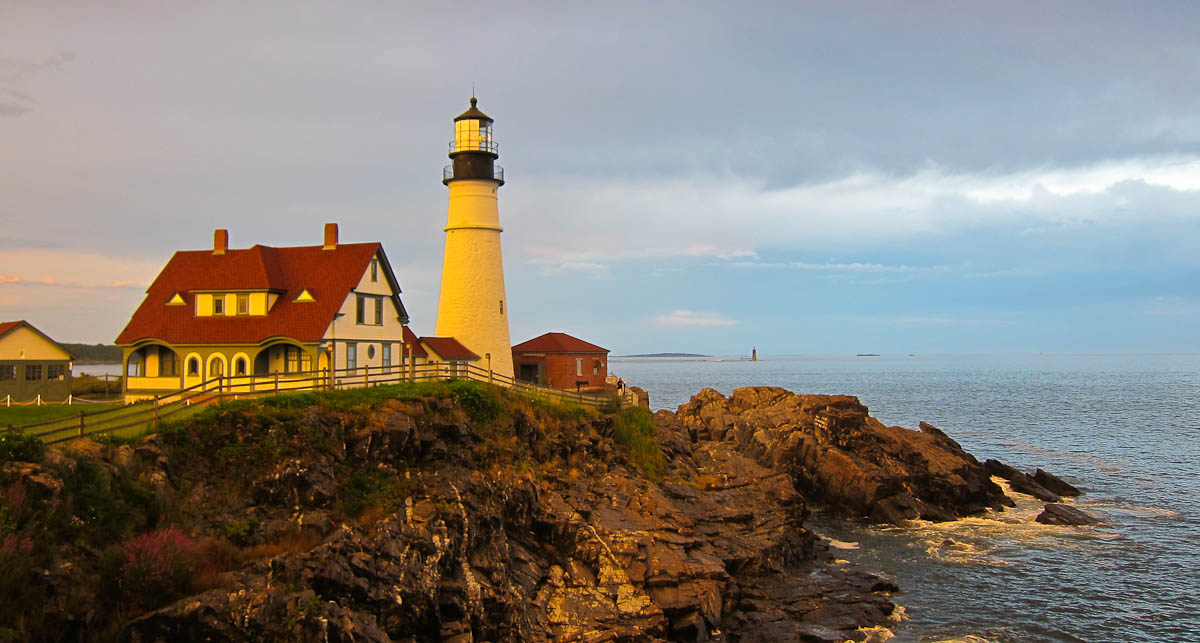 The stunning coast of Maine - just one of the many beautiful places we've been