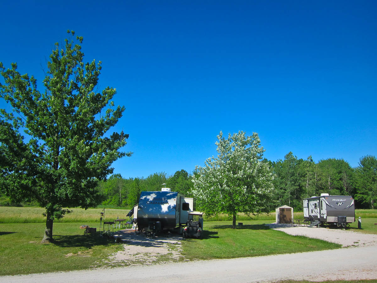 RV Campground site spacing