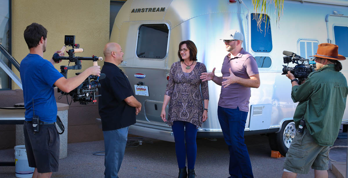 Filming Big Time RV in Tucson