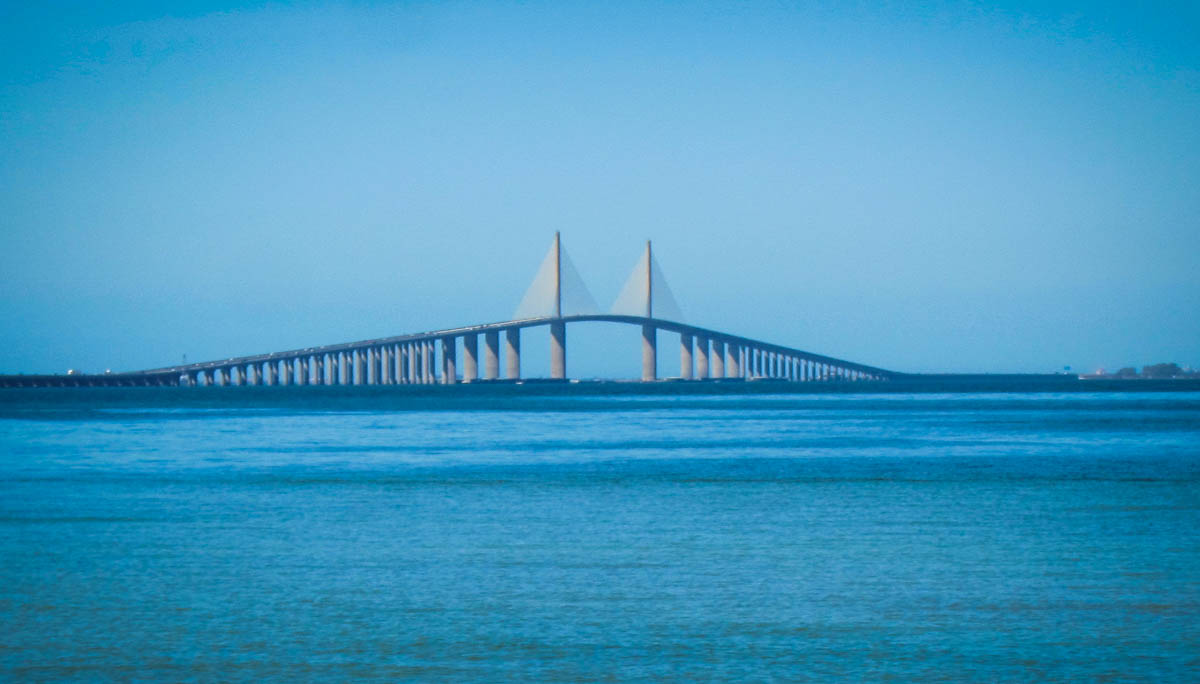 The Sunshine Skyway Bridge south of Tampa